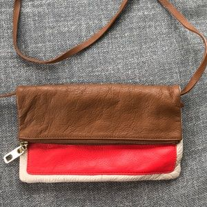 Gap leather shoulder bag/clutch/cross body